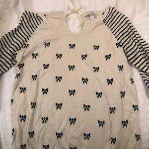 Lauren Conrad bow tie sweater